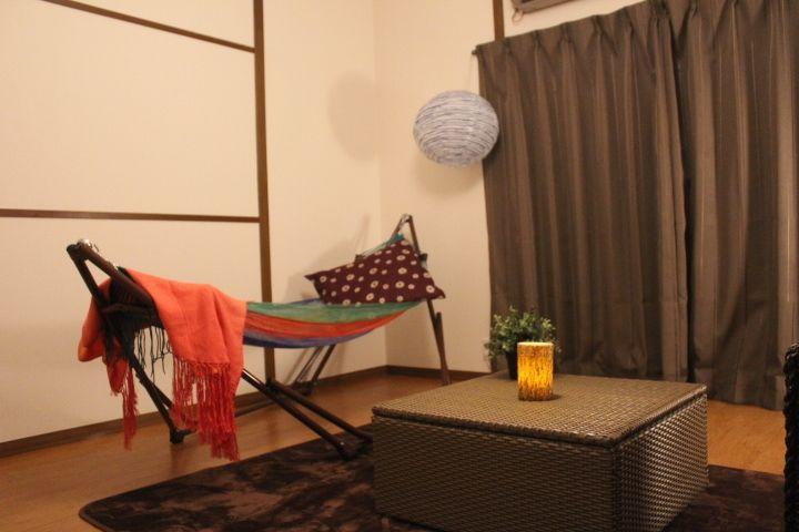 鶴橋商店街キッチン充実の一軒家! ハンモックスペースの室内の写真