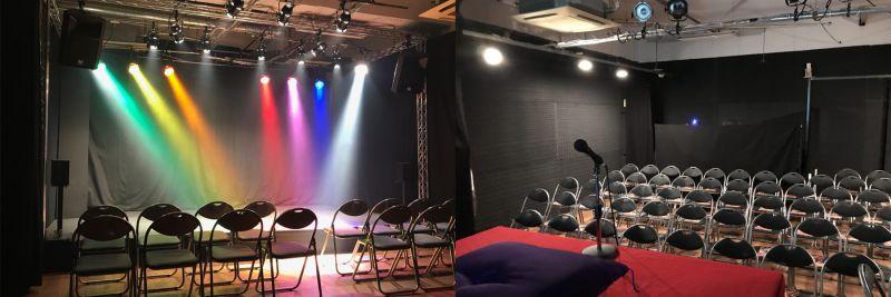 しもきたドーン 劇場、スタジオ、多目的スペースの室内の写真
