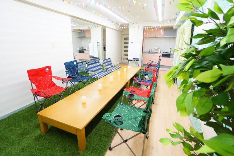 【アウトドアスペース】 楽しいスペース☆パーティー/撮影の室内の写真