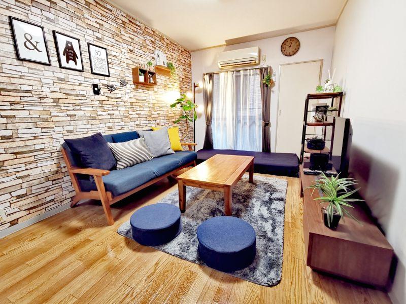 自宅のように落ち着くオシャレなワンルームです♫ ※寝具類のご用意はございません。 - SMILE+アモーレ北堀江 パーティルーム、多目的スペースの室内の写真