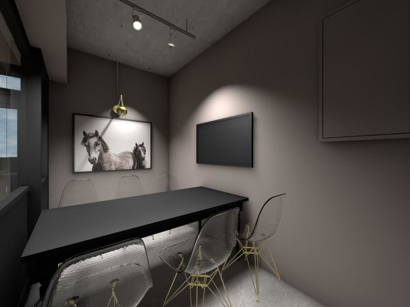 貸し会議室@上野毛/二子玉 DESIGN CAFE 内会議室の室内の写真