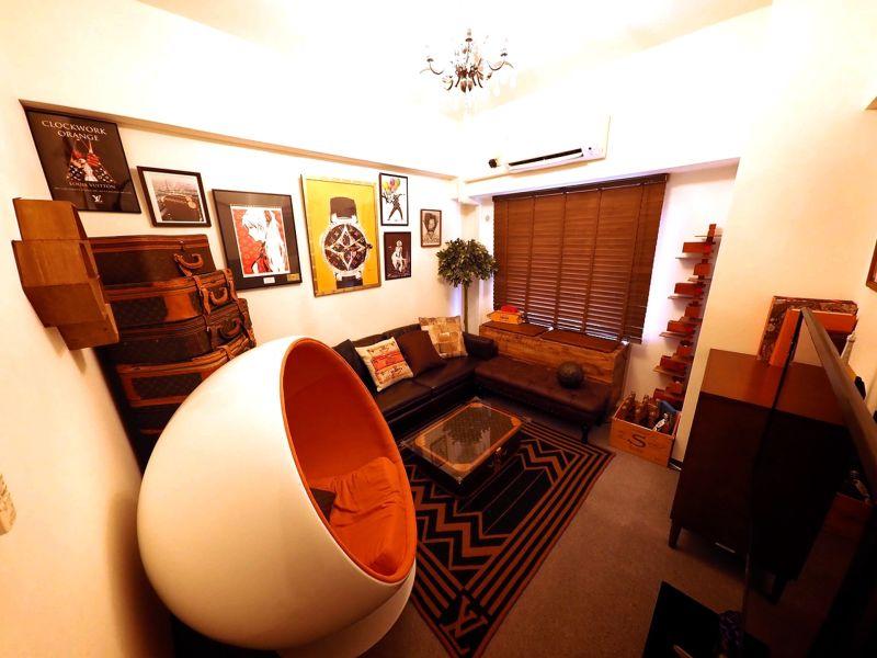 ハイブランドなインテリアで統一した、非日常的な寛ぎのお部屋⭐️ - Lv5目黒川の室内の写真