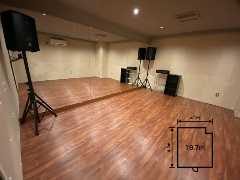 「KiT-UP」 Bスタジオの室内の写真