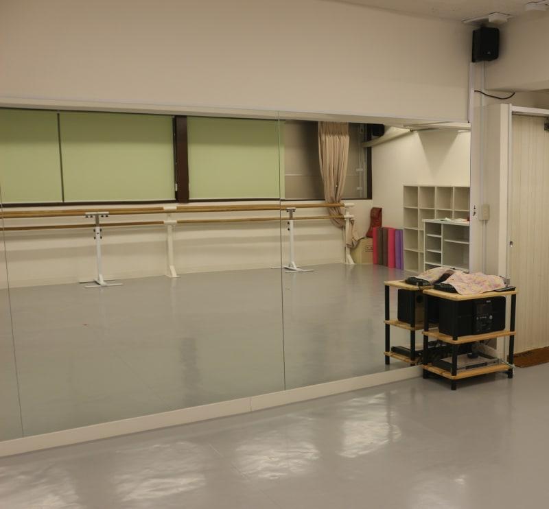 60平米スペース。 - アキバレエスタジオMCジョイアス ダンススタジオスペースの室内の写真