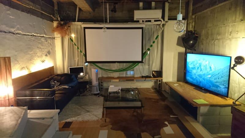Farmersリノベーションスペース:TV、映画、Wi-Fi、キッチンあり - Farmersレンタルスペース 水上ビル一棟貸切レンタルスペースの室内の写真