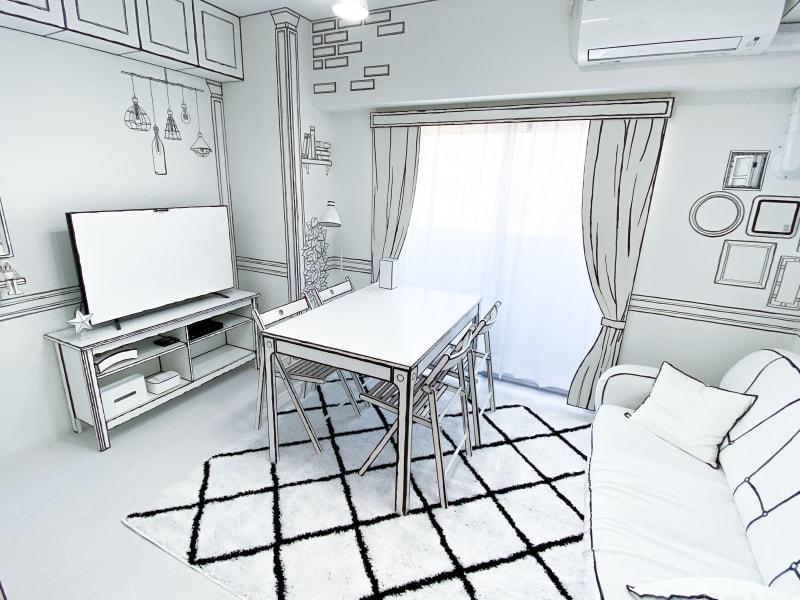 2D(漫画風)の部屋になります(^^) - H.R.S.O 則武 Heavenly則武2Dの室内の写真