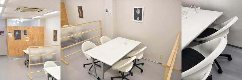 2Fデスク/チェア - OMO|オモ【三宮本通店】 【4席分|2デスク】貸し会議室1の室内の写真