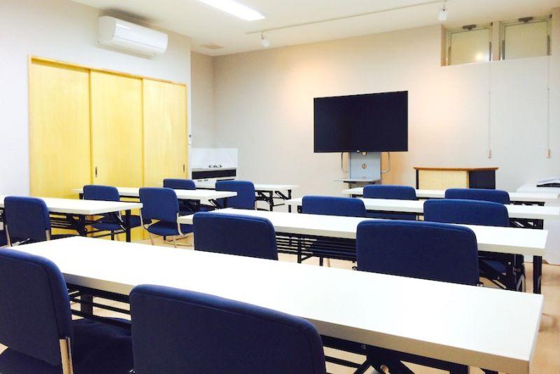 新潟市上近江「Garuba」 セミナールームの室内の写真