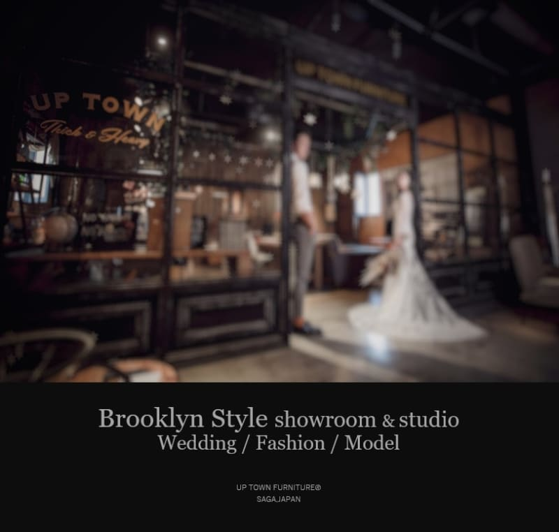 ブルックリンスタイルの家具ブランドとして、業界注目ショールーム兼フォトスタジオです。 - アップタウンファニチャー サロンスペースの室内の写真