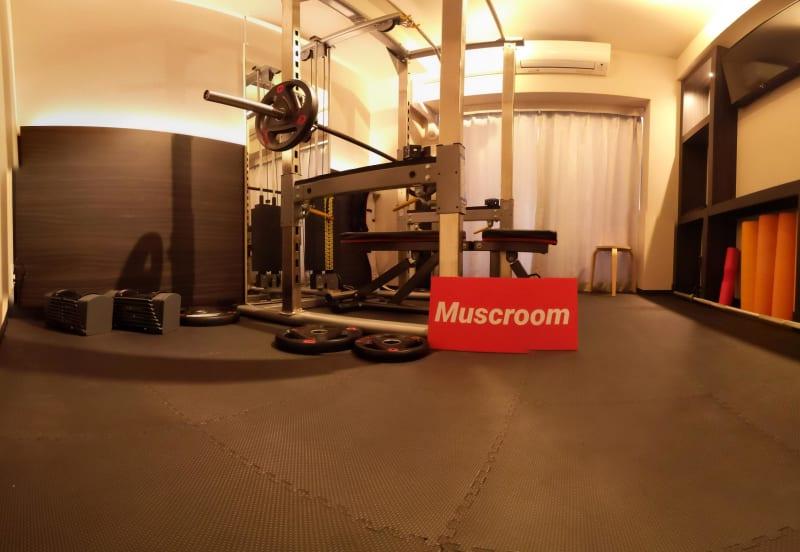 室内全景 - Muscroom(マッスルーム) マッスルーム208号室 ジムの室内の写真
