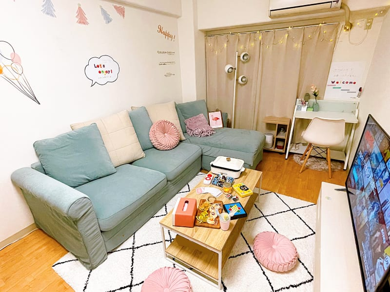 《New open》緑と白を基調としたスペース✨ - トーノア🏠新大阪 パーティスペースの室内の写真