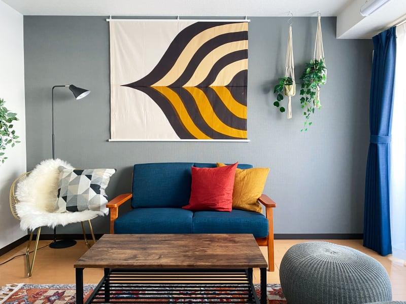 ヴィンテージマリメッコを主役にしたミッドセンチュリーインテリア - The Room aurincoの室内の写真