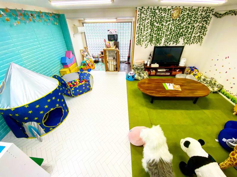 くつろぎスペース キッズスペース - レンタルルーム アンファン キッズスペース付レンタルスペースの室内の写真