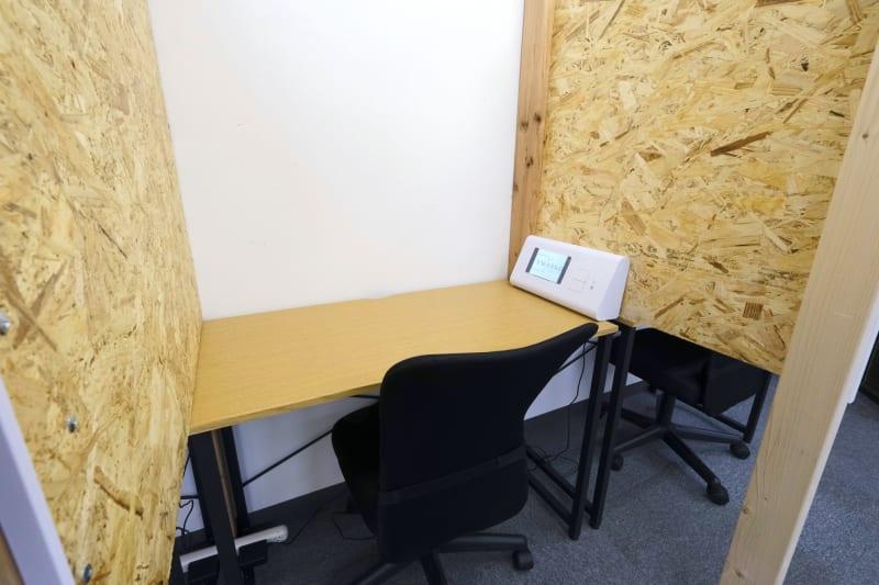 スペースコネクト中目黒 ソロブース1の室内の写真