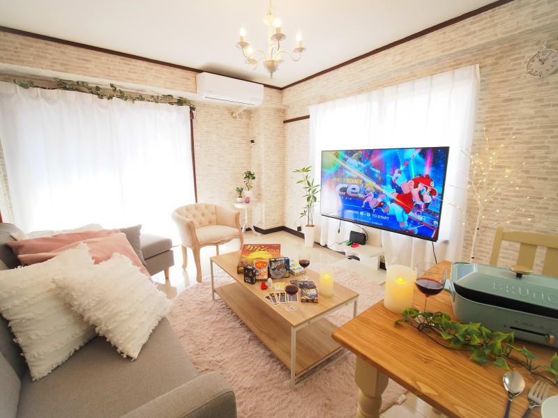 韓国カフェをイメージした可愛いお部屋になっています❤ - サンライズ新宿 サンライズ新宿211の室内の写真