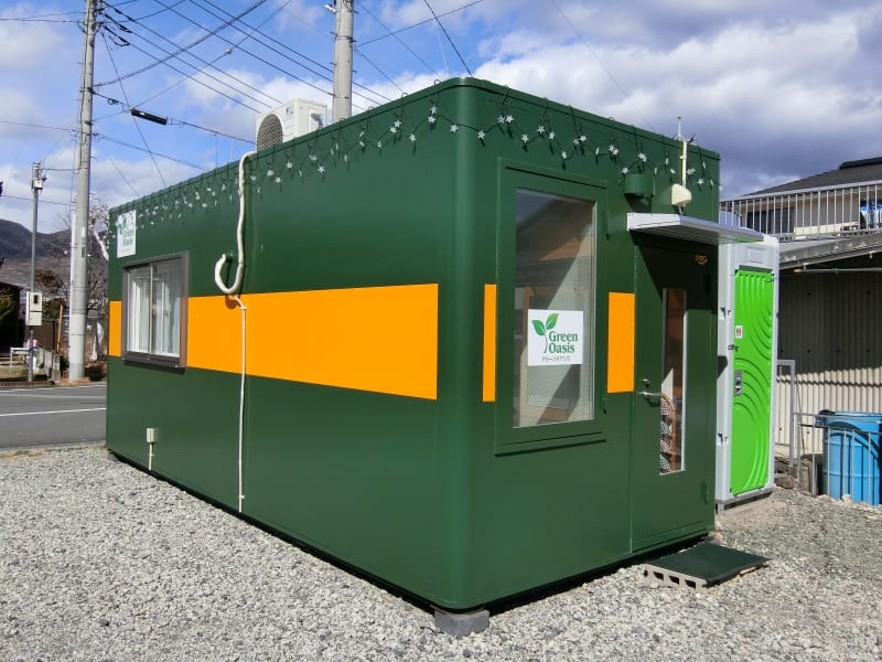 外観①・水洗トイレも完備しています - グリーンオアシス レンタルスペース・音楽練習場の室内の写真