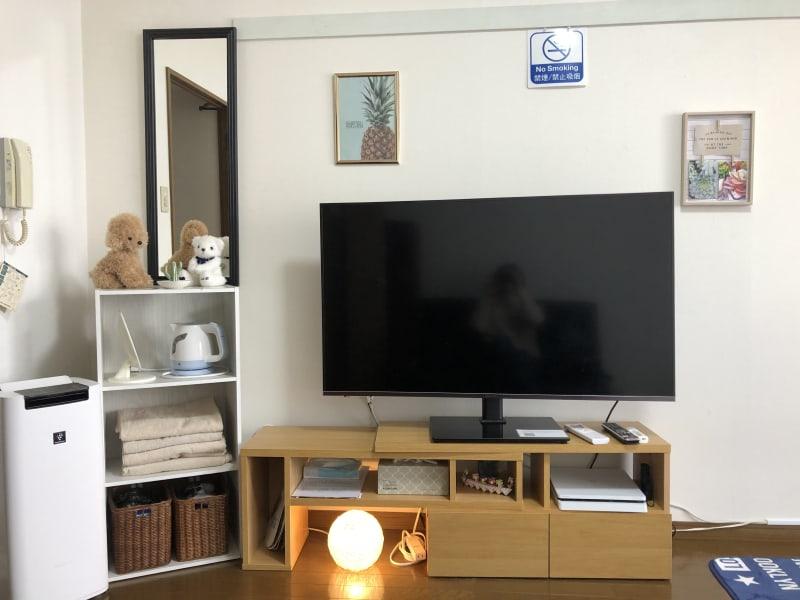 50インチの大型テレビ Netflix見放題 - レンタルスペースE.U.B スペース6の室内の写真