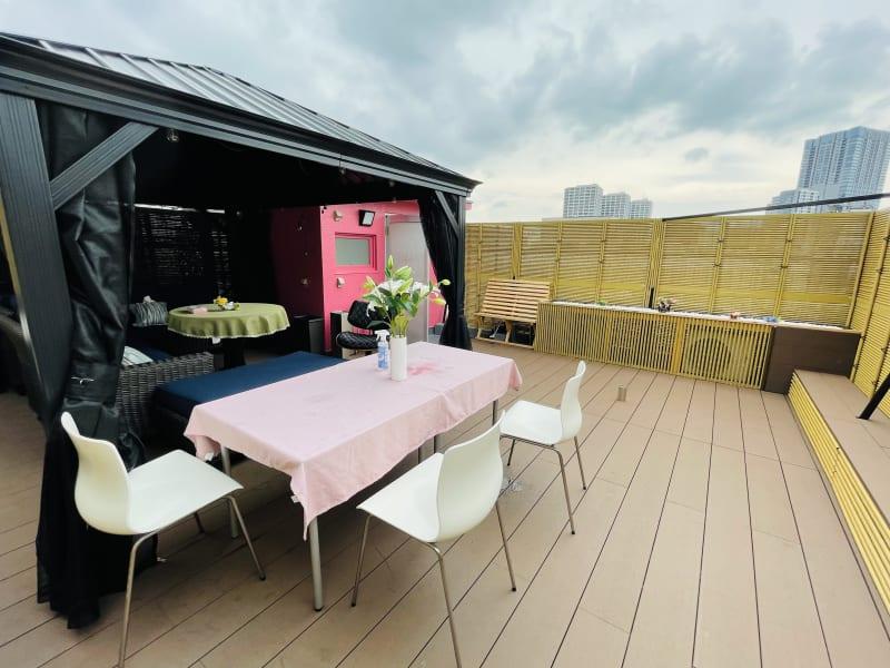 屋上スペース - 紅花会館レンタルスペース 屋上スペースBBQ可能の室内の写真
