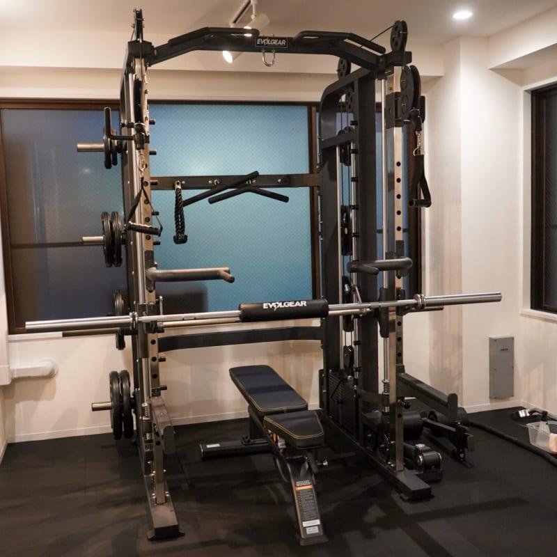 メイスントレーニングスタジオ目白 ジムスペース マッサージベット有の室内の写真