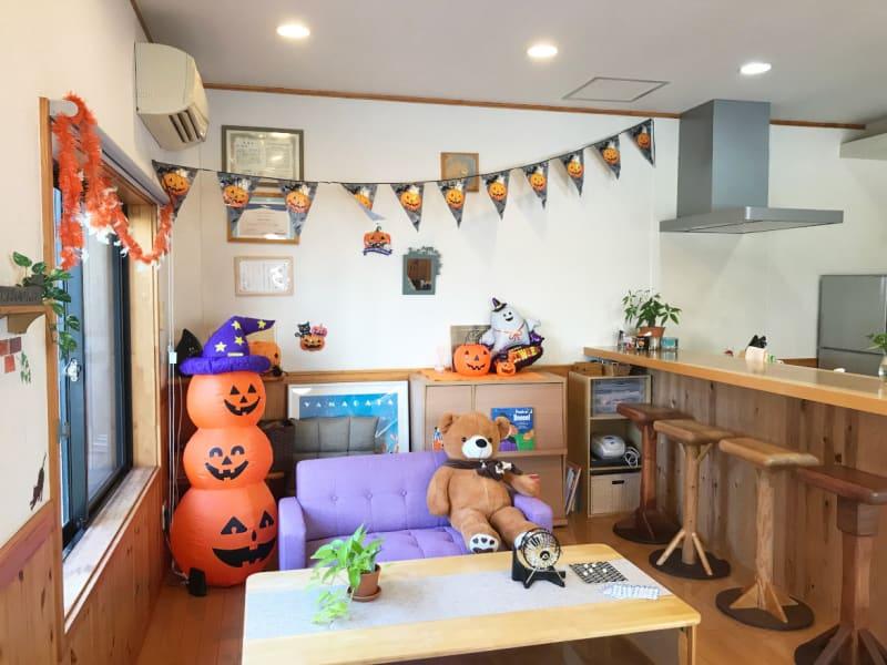 ハロウィンデコレーションしました! - Cozy-Room キッチン付レンタルスペースの室内の写真