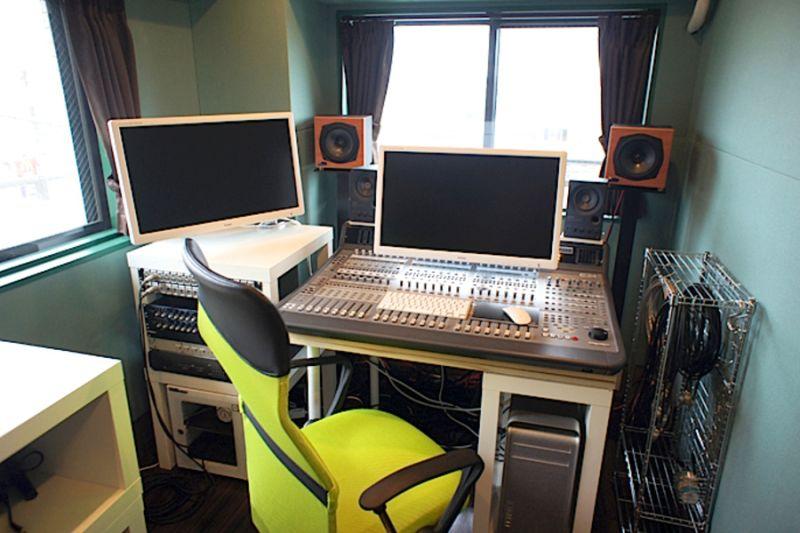 梶ケ谷 Studio Mojo K 防音収録スタジオの室内の写真