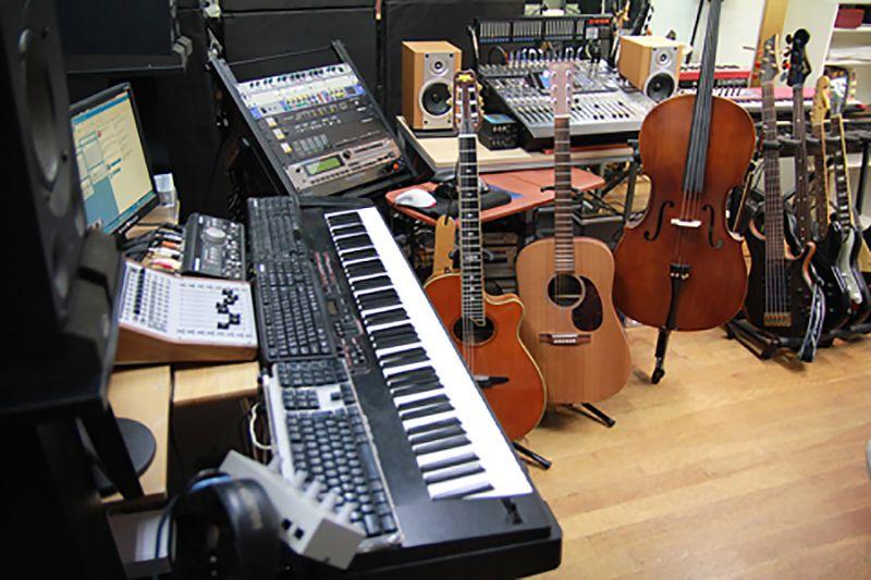 ビッグメイドミュージック Aスタジオの室内の写真