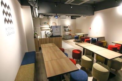 九段下,市ヶ谷駅の好立地スペース 大型プロジェクター完備スペースの室内の写真