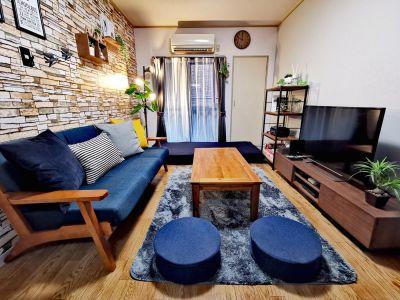 4〜6名様が最適です。(最大8名くらい) ※寝具類のご用意はございません。 - SMILE+アモーレ北堀江 パーティルーム、多目的スペースの室内の写真