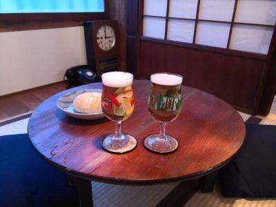 古民家で味わうビール。 - 月島長屋 多目的スペースの室内の写真