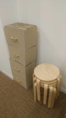 組み立て式のお荷物収納ボックス - 夢・あいホール セミナー、勉強会、個展等の室内の写真