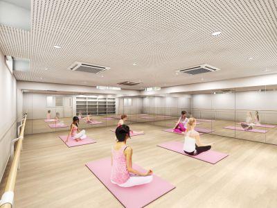 キレイで清潔感のあるスタジオです。ヨガ・ダンス・バレエ等、様々な用途に対応できます。 - ルキナ仙川アネックス レンタルスタジオの室内の写真