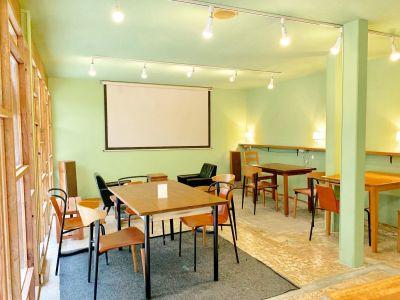 プロジェクター・スクリーンあり。会議やパーティーなどプライベートな利用におすすめ - 寿通り商店街「コトブキリビング」