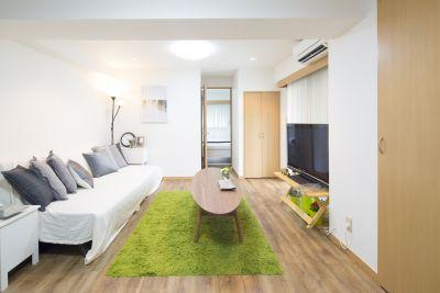 新宿 Superior バルコニーとキッチン付きスペースの室内の写真