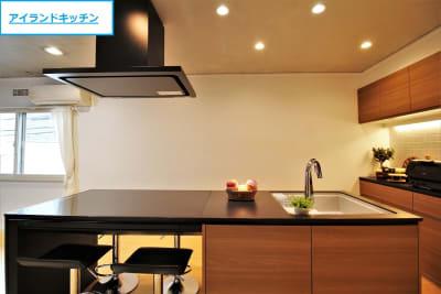 【ノーマル空間】両側から調理可能なアイランドキッチン - 池尻セレクトハウス テレビ・CM・動画配信撮影などの室内の写真
