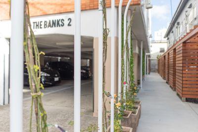 THE BANKS レンタルGARDENの入口の写真