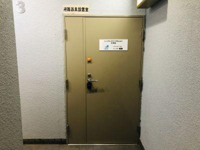 福岡レンタルスタジオカベリ天神店 ダンスができるレンタルスタジオの入口の写真