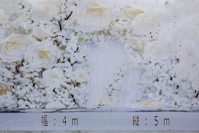 大型背景花 設置使用料2000円 - 蒲田センタービル504 クロマキー撮影 レンタルスタジオの室内の写真