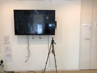 大型モニター クロームキャストで接続可 三脚 2台 - スタジオKaveri 東林間 レンタルスタジオの設備の写真