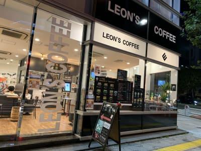 LEON'S COFFEE お洒落カフェ LEONの入口の写真