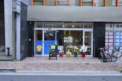 健康カフェODL カフェスペースの入口の写真