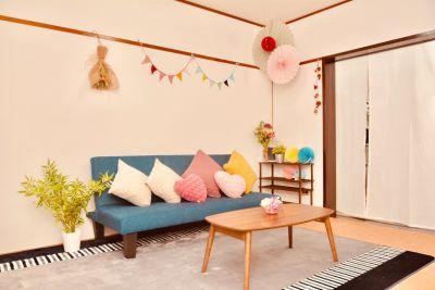 ソファはフラットになります - 八幡山駅【KPstudio】 レンタルスペースの室内の写真