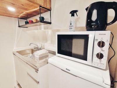 給湯スペースです - G201 駅近の静かで清潔な個室スペースの室内の写真