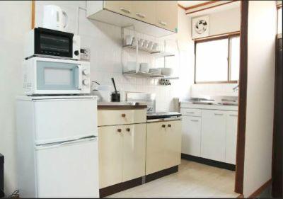 キッチンスペース - Momodani House 古民家2階建貸切スペース 72★の室内の写真