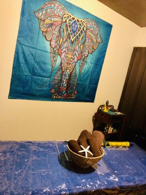 バリ風サロン  バリ・エナン サロンスペースの室内の写真