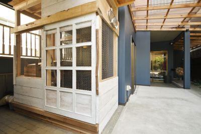 むすび森のcafe Aスペースの入口の写真