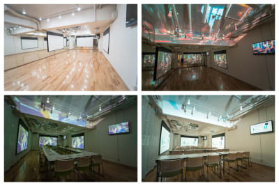 【casuarise 巣鴨】 チームラボ風スペースの室内の写真