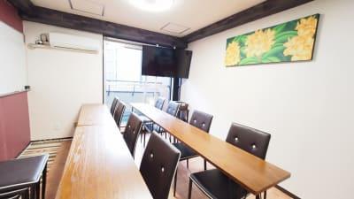教室向けレイアウト - 貸し会議室【モルディブ】 渋谷少人数利用可レンタルスペースの室内の写真