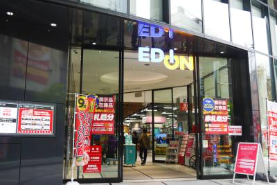 エディオンなんば本店 イベントスペースの入口の写真