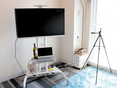 地デジが見える液晶TV。撮影用の三脚も用意しました。 - 高田馬場スペース アンダルシア会議室の室内の写真