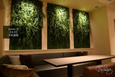 最大人数9名様 緑あふれるフォトジェニックな空間 - ルームレストラン バチェラー モネの室内の写真
